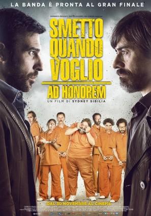 Smetto quando voglio: Ad honorem - Italian Movie Poster (thumbnail)
