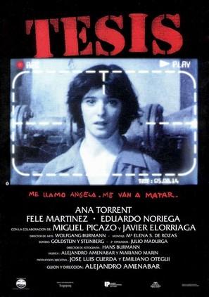 Tesis - Spanish Movie Poster (thumbnail)