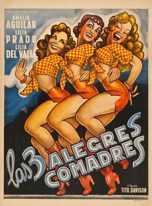 Las tres alegres comadres - Mexican Movie Poster (thumbnail)