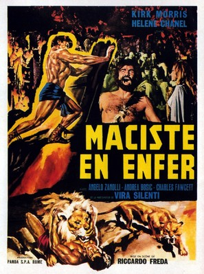 Maciste all'inferno - French Movie Poster (thumbnail)