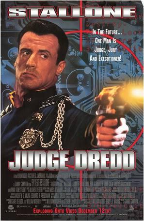 Judge Dredd - Video release movie poster (thumbnail)