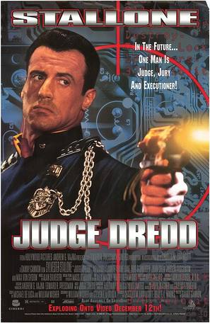 Judge Dredd - Video release movie poster (thumbnail)