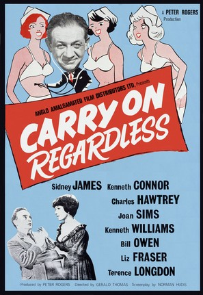 Carry on Regardless - British Movie Poster (thumbnail)