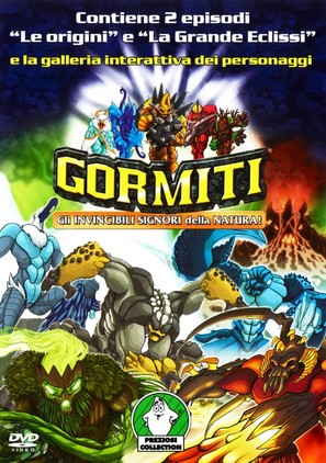 """Gormiti: The Lords of Nature Return!"" - Italian DVD cover (thumbnail)"