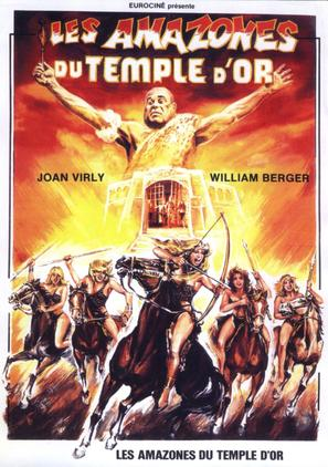 Les amazones du temple d'or - French Movie Poster (thumbnail)