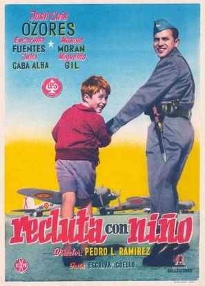 Recluta con niño - Spanish Movie Poster (thumbnail)