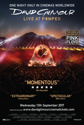 David Gilmour Live at Pompeii - British Movie Poster (thumbnail)