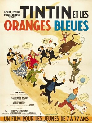Tintin et les oranges bleues - French Movie Poster (thumbnail)