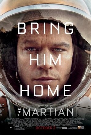The Martian - Theatrical movie poster (thumbnail)