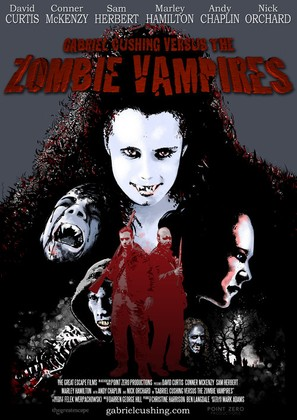 """Gabriel Cushing Versus the Zombie Vampires"" - British Movie Poster (thumbnail)"