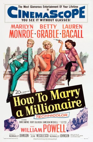 How to Marry a Millionaire - Movie Poster (thumbnail)