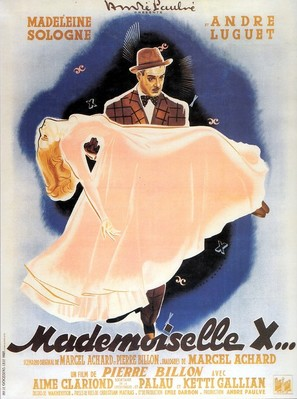 Mademoiselle X - French Movie Poster (thumbnail)