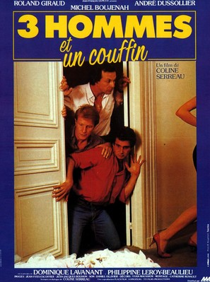 3 hommes et un couffin - French Movie Poster (thumbnail)