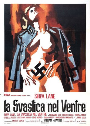 La svastica nel ventre - Italian Movie Poster (thumbnail)