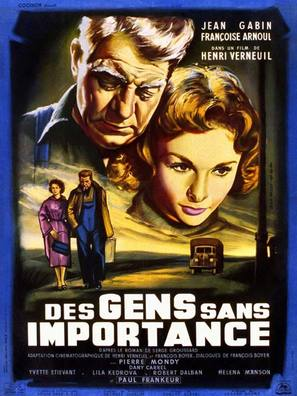Des gens sans importance - French Movie Poster (thumbnail)