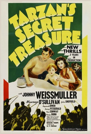 Tarzan's Secret Treasure - Movie Poster (thumbnail)