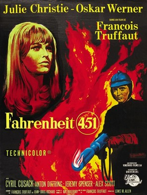 Fahrenheit 451 - French Movie Poster (thumbnail)