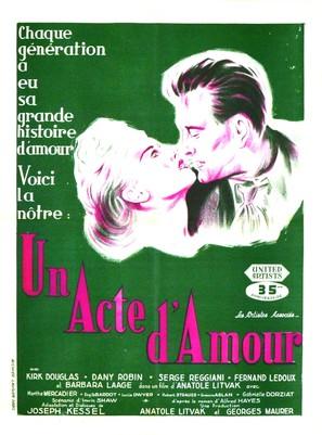 Un acte d'amour - French Movie Poster (thumbnail)