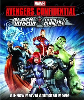 Avengers Confidential: Black Widow & Punisher - Blu-Ray cover (thumbnail)