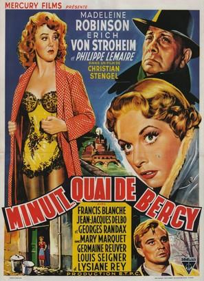 Minuit... Quai de Bercy - Belgian Movie Poster (thumbnail)