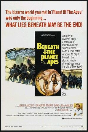 Beneath the Planet of the Apes - Movie Poster (thumbnail)