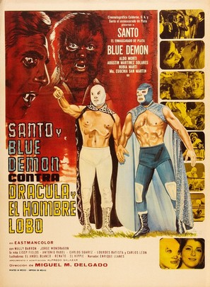 Santo y Blue Demon vs Drácula y el Hombre Lobo - Mexican Movie Poster (thumbnail)