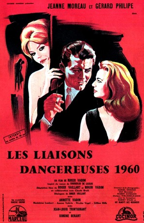 Les liaisons dangereuses - French Movie Poster (thumbnail)