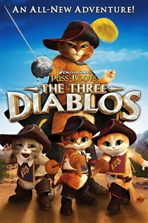Puss in Boots: The Three Diablos - DVD movie cover (thumbnail)