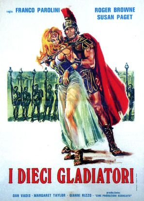 Dieci gladiatori, I - Italian Movie Poster (thumbnail)