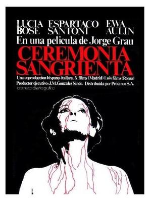 Ceremonia sangrienta - Spanish Movie Poster (thumbnail)