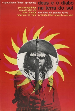 Deus e o Diabo na Terra do Sol - Brazilian Movie Poster (thumbnail)