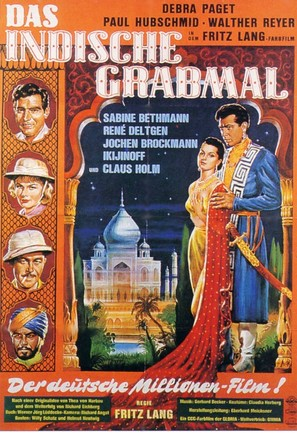 Das iIndische Grabmal - German Movie Poster (thumbnail)