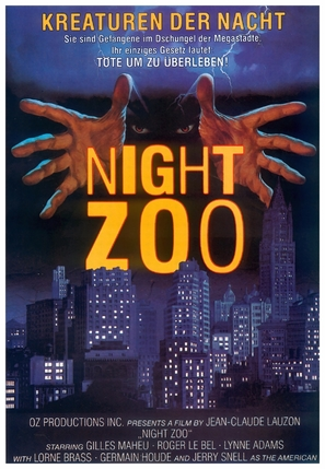 Un zoo la nuit - German poster (thumbnail)