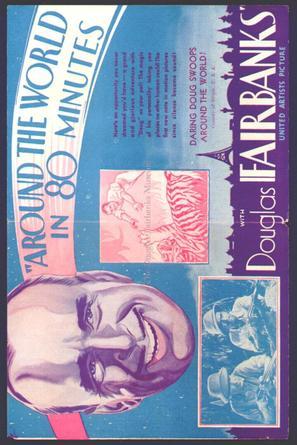 Around the World in 80 Minutes with Douglas Fairbanks - British Movie Poster (thumbnail)