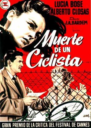 Muerte de un ciclista - Spanish Movie Poster (thumbnail)
