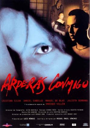 Arderás conmigo - Spanish Movie Poster (thumbnail)