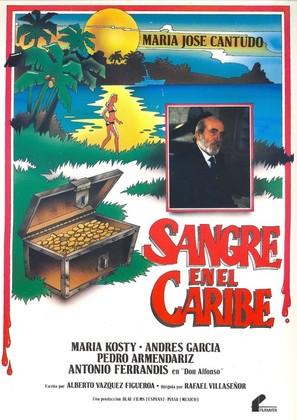 Sangre en el Caribe - Spanish Movie Poster (thumbnail)