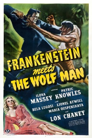 Frankenstein Meets the Wolf Man - Theatrical poster (thumbnail)