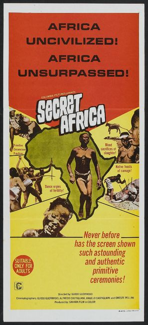 Africa segreta - Australian Movie Poster (thumbnail)