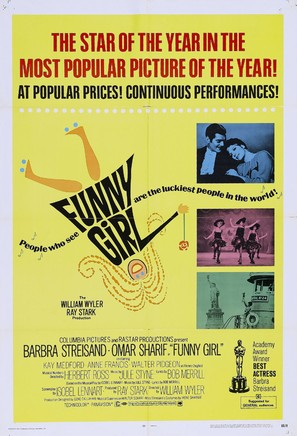 Funny Girl - Theatrical movie poster (thumbnail)