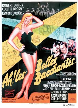 Ah! Les belles bacchantes - French Movie Poster (thumbnail)