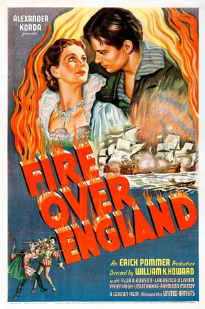 Fire Over England - Movie Poster (thumbnail)