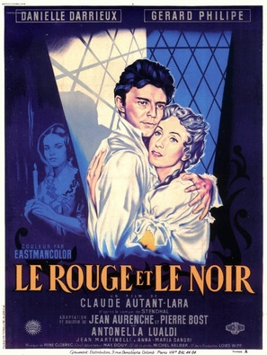 Le rouge et le noir - French Movie Poster (thumbnail)