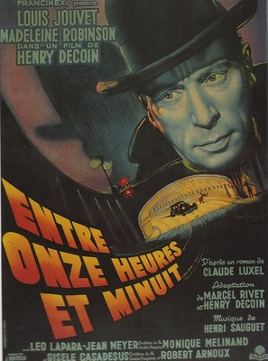 Entre onze heures et minuit - French Movie Poster (thumbnail)