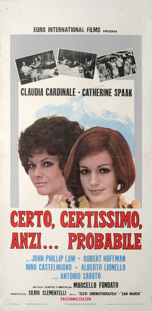 Certo, certissimo, anzi... probabile - Italian Movie Poster (thumbnail)