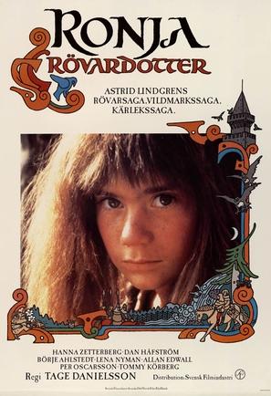 Ronja Rövardotter - Swedish Movie Poster (thumbnail)