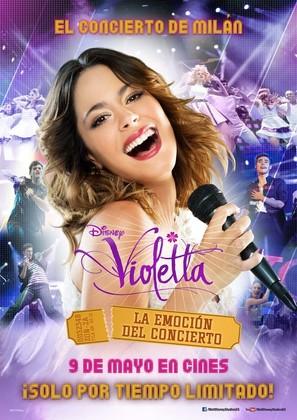 Violetta: La emoción del concierto - Spanish Movie Poster (thumbnail)