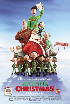 Arthur Christmas - British Movie Poster (thumbnail)