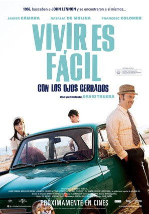 Vivir es fácil con los ojos cerrados - Spanish Movie Poster (thumbnail)