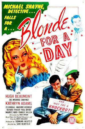 Blonde for a Day - Movie Poster (thumbnail)